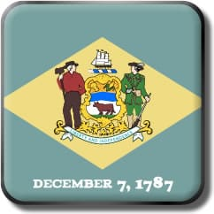 Delaware State Flag Icon