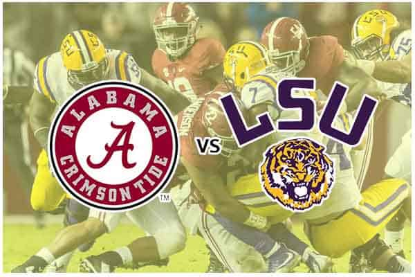 LSU vs AU game logos