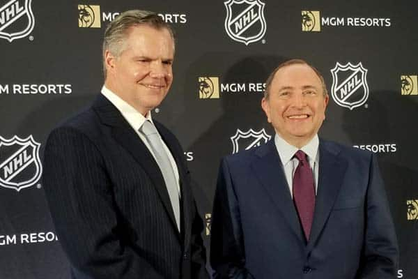 Gary Bettman and Jim Murren NHL MGM