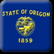 Oregon State Flag Icon