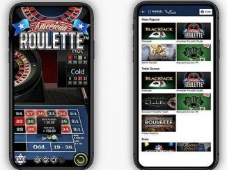 fanduel casino app running on two android phones showing the online gambling interface