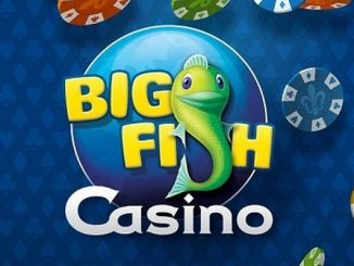 big fish games casino app menu with logo and virtual chips