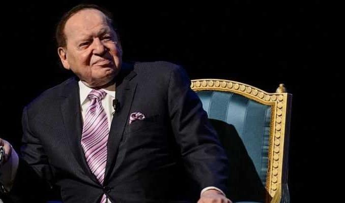 late casino magnate sheldon adelson standing up