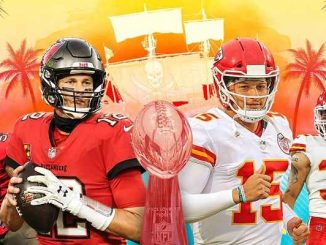 tampa bay buccaneers vs kansas city chiefs in 2021 super bowl 55