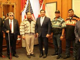 fl governor ron desantis and seminole tribal council