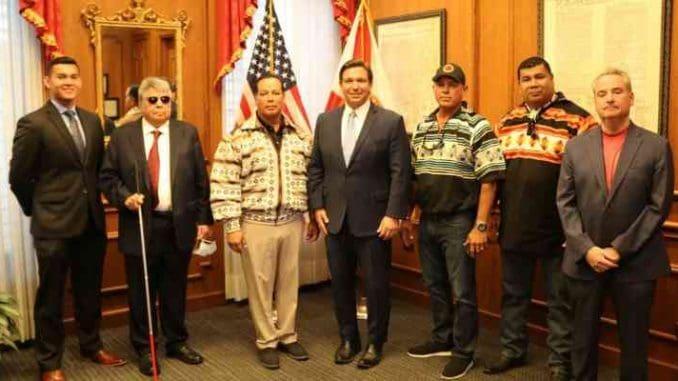 fl governor ron desantis and seminole tribal council