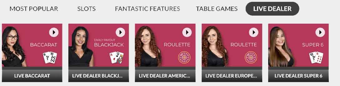 SlotsLV Live Dealer Games