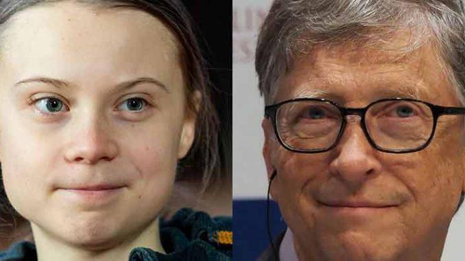Bill Gates and Greta Thurnberg